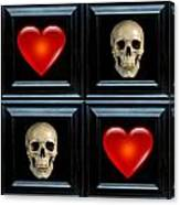 Love And Death Vii Canvas Print