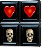Love And Death Viiii Canvas Print