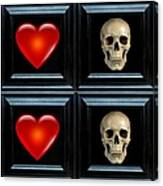 Love And Death Xi Canvas Print