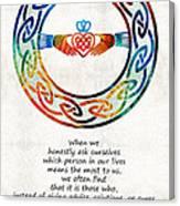 Love And Friendship Art By Sharon Cummings Canvas Print