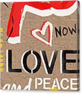 Love And Peace Now Canvas Print