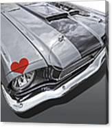 Love At First Sight - '66 Mustang Canvas Print