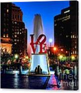 Love At Night Canvas Print