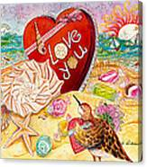 Love At The Beach Canvas Print
