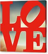 Love Beach Canvas Print