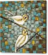 Love Birds- Warm Tone Canvas Print