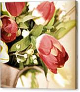 Love Blooms Here Canvas Print