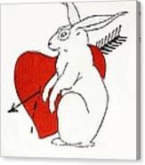 Love Bunny Canvas Print