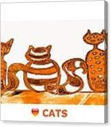 Love Cats 2 Canvas Print