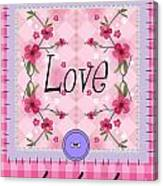 Love Cherry Blossom Canvas Print