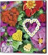 Love Flowers Garden Canvas Print