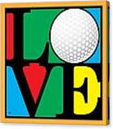 Love Golf Canvas Print