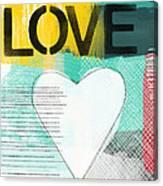 Love Graffiti Style- Print Or Greeting Card Canvas Print