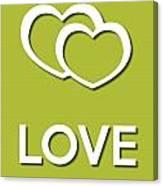 Love Green Canvas Print