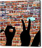 Love Hands Canvas Print