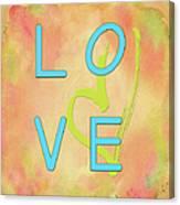 Love In Bright Blue Canvas Print
