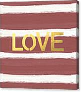 Love In Gold And Marsala Canvas Print
