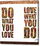 Love In Life Acrylic Palette Knife Painting Canvas Print