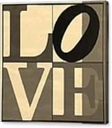 Love In Sepia Canvas Print