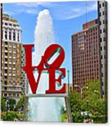 Love In The Park Canvas Print