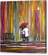 Love In The Rain Canvas Print
