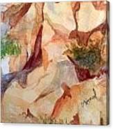 Love In The Rocks Medjugorje 2 Canvas Print
