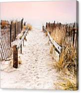 Love Is Everything - Footprints In The Sand Canvas Print
