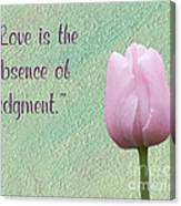 Love Is Tulip Canvas Print