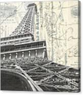 Love Letter From Paris Square Canvas Print