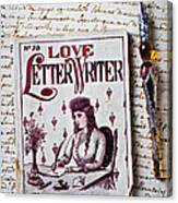 Love Letter Writer Book Canvas Print
