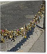 Love Locks - Florence Italy Canvas Print