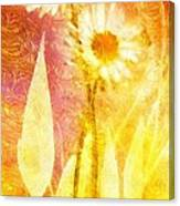 Love Me Tender Gold Canvas Print