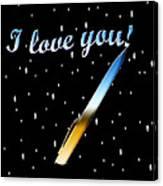 Love Message Digital Painting Canvas Print