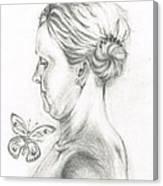 Loves- Her Butterflies Canvas Print