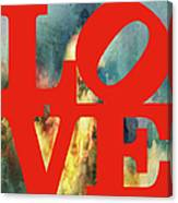 Love On Fire Canvas Print
