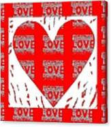 Love On Love Canvas Print