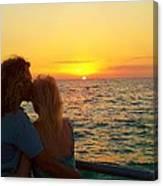 Love On The Beach Canvas Print