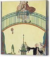 Love On The Bridge Canvas Print