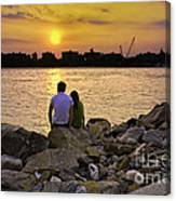Love On The Rocks In Brooklyn Canvas Print
