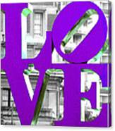 Love Philadelphia Purple Canvas Print