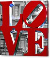 Love Philadelphia Red Canvas Print