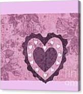 Love Series Collage - Heart 2 Canvas Print