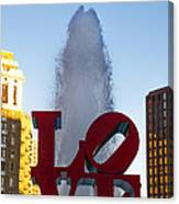 Love Statue In Philadelphia Pa Canvas Print
