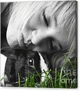 Love The Bunny Canvas Print