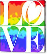 Love The Rainbow Canvas Print
