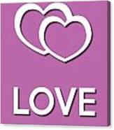 Love Violet Canvas Print