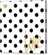 Love With Dots Canvas Print