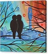 Lovebirds In P-town Canvas Print