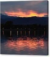 Loveland City Sunset Canvas Print