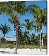 Lovely Beach On Key West East Side Canvas Print